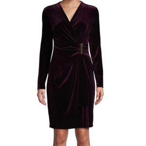 NEW Calvin Klein velvet sheath dress